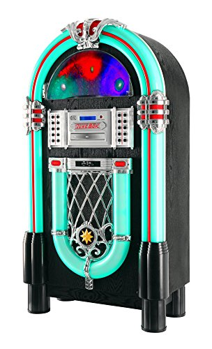Jukebox Beatfoxx Goldenage años 40/ 50 con LP, CD, USB, reproductor MP3, radio y Bluetooth