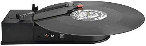 Portátil Mini USB Vinyl Turntable Record a Mp3 CD Converter, Adaptador de giradiscos de conversión de Audio para Windows o Mac en 3 Pasos