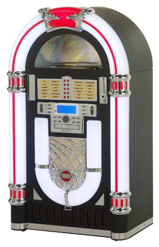 Ricatech RR2000 – jukeboxes (30W, Clásico, Plano, Jazz, Pop, Roca, CD, CD-R, CD-RW, Am, FM, SD, 3.5 mm) Negro