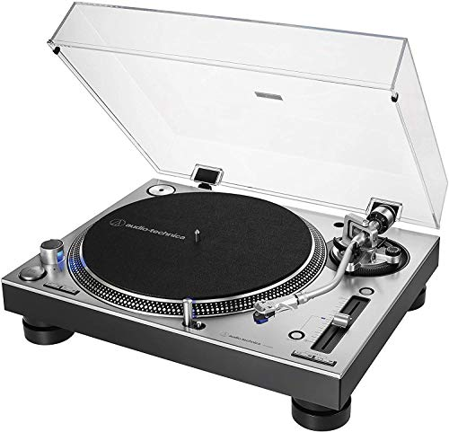 Audio-Technica AT-LP140XP Giradiscos Profesional Manual de Tracción Directa – Plata